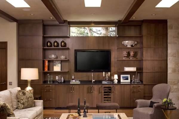 стенка в гостиную в современном классическом стиле, фото 28