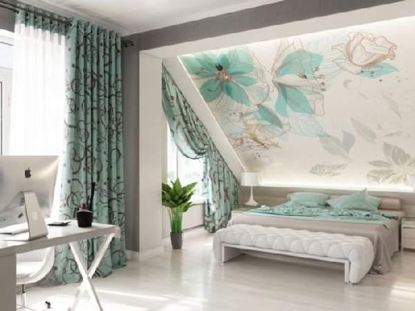 красивые натяжные потолки для спальни, фото 39