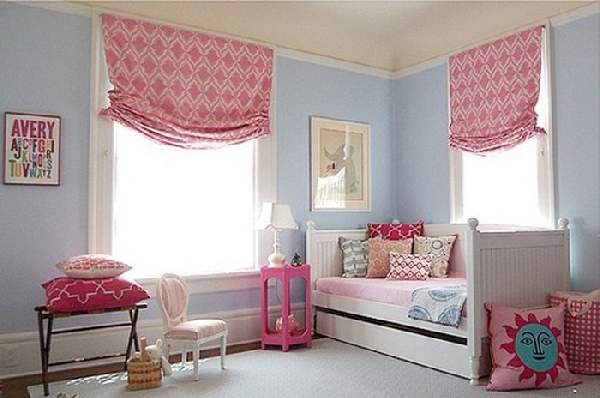 римские шторы в детскую комнату для девочки, фото 18