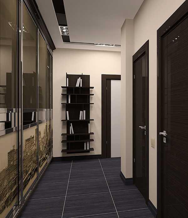 встроенные прихожие в коридор, фото 71