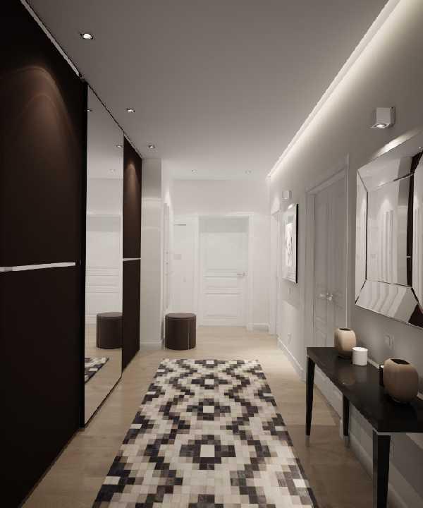 встроенные прихожие в коридор, фото 73