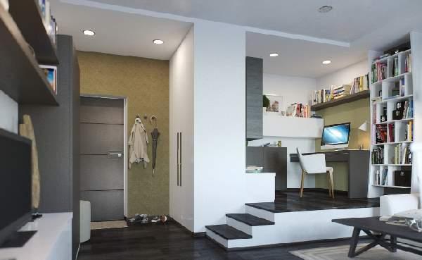 ,дизайн гостиной с рабочей зоной фото фото 75