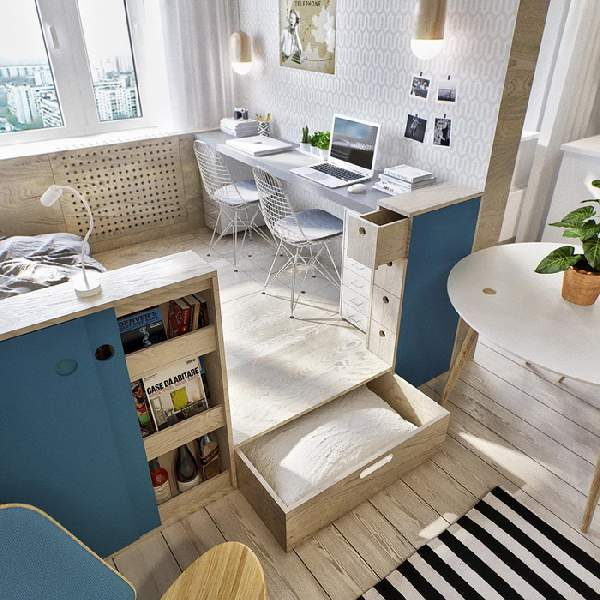 ,дизайн гостиной с рабочим местом фото 78