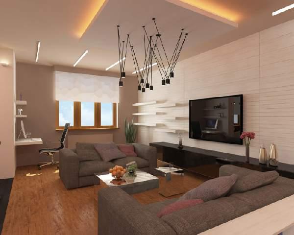 ,дизайн гостиной с рабочим местом фото 80