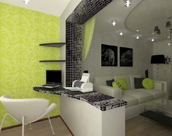 ,дизайн гостиной с рабочим местом фото 98