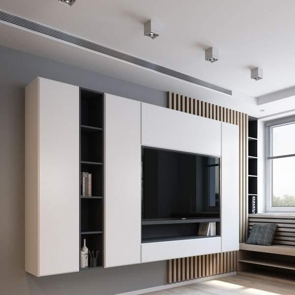 модульная стенка в гостиную в современном стиле, фото 36