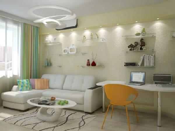 ,дизайн гостиной с рабочей зоной фото фото 107