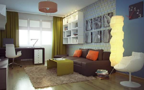 ,дизайн гостиной с рабочим местом фото 108