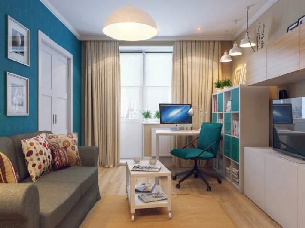 ,дизайн гостиной с рабочей зоной фото фото 101