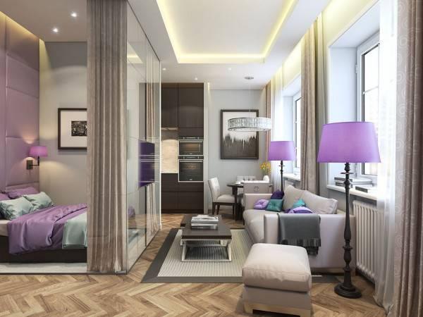 12 лучших современных дизайнов однокомнатных квартир