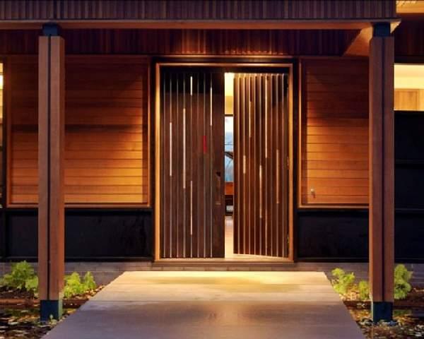 деревянные входные двери для частного дома, фото 6