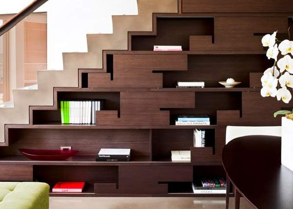 дизайн шкафа под лестницей, фото 30