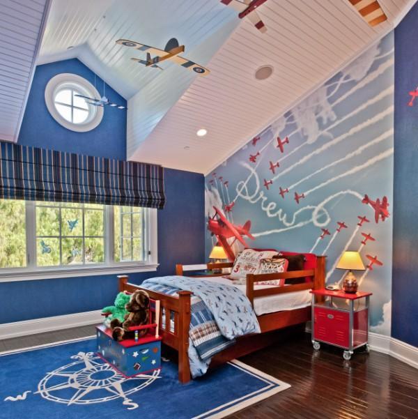римские шторы для детской комнаты для мальчиков, фото 53