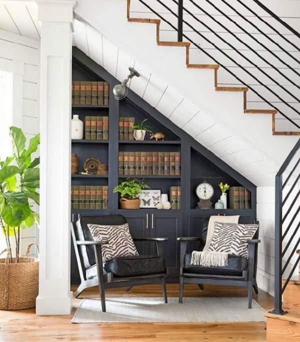 встроенный шкаф под лестницей, фото 23