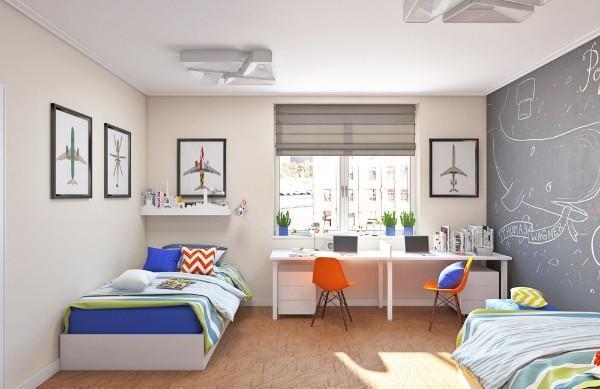 шторы в детскую комнату для мальчика подростка, фото 62