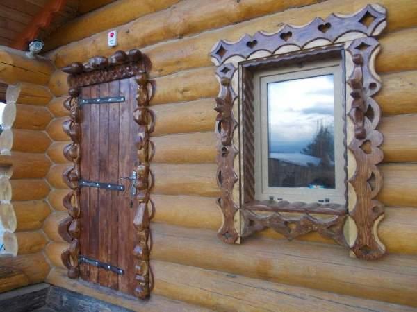 деревянные входные двери в баню, фото 29