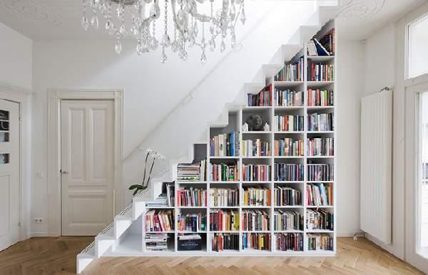 встроенные шкафы под лестницей фото, фото 25