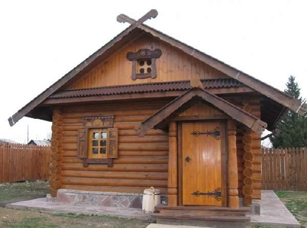 деревянные входные двери в баню, фото 30