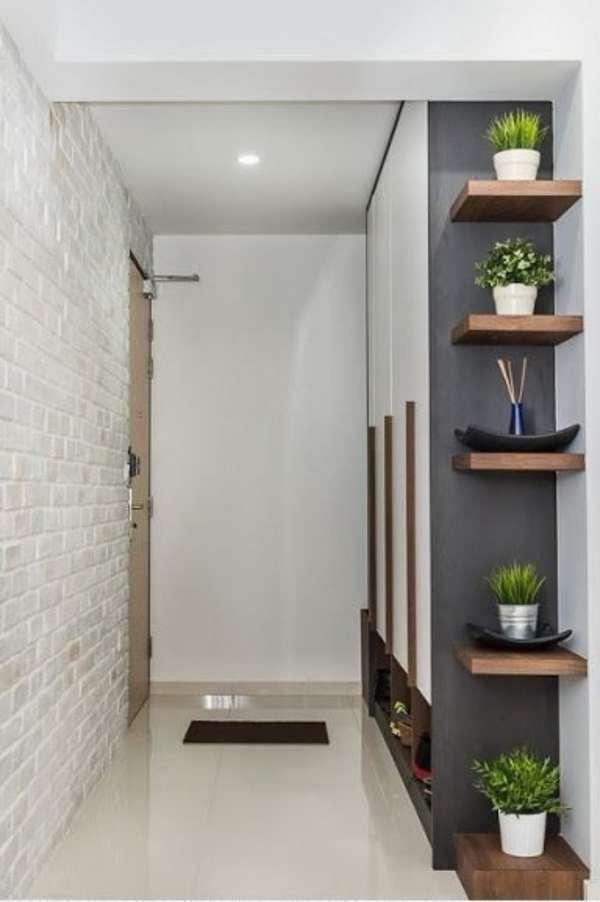 оригинальные комнатные растения в интерьере прихожей, фото 17