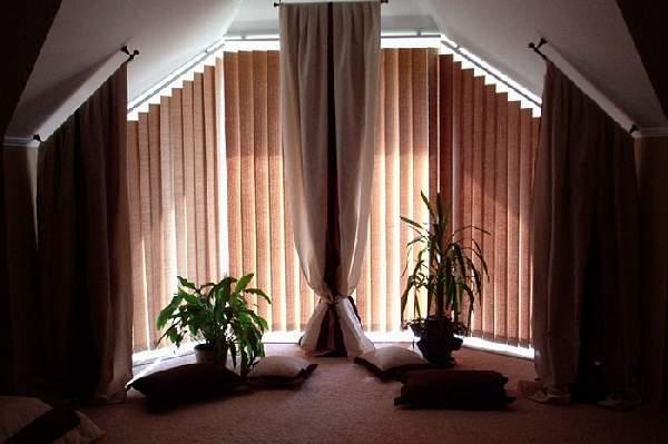 вертикальные жалюзи фото на окна нестандартной формы, фото 6