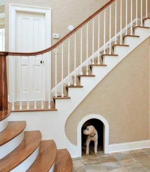 встроенные шкафы под лестницей фото, фото 35