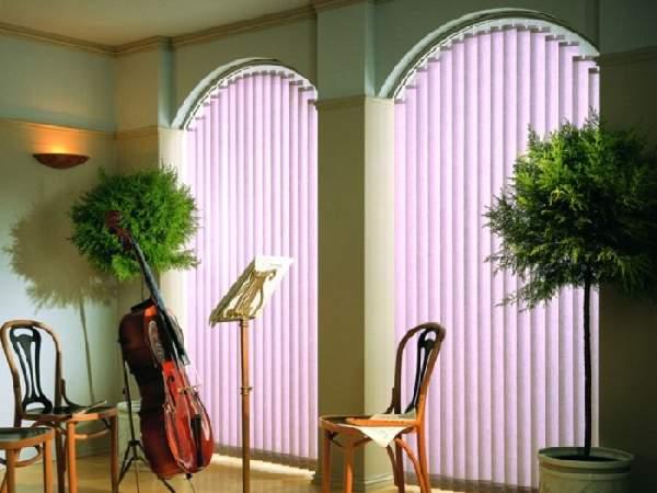 вертикальные жалюзи фото на окна нестандартной формы, фото 7