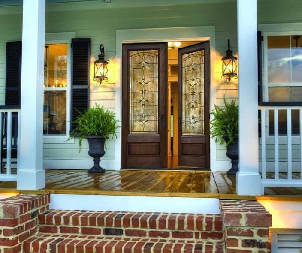 двери входные деревянные двухстворчатые, фото 25