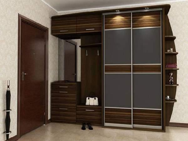 прихожие в коридор со шкафом купе, фото 9