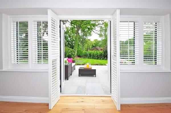 алюминиевые жалюзи на двери, фото 2