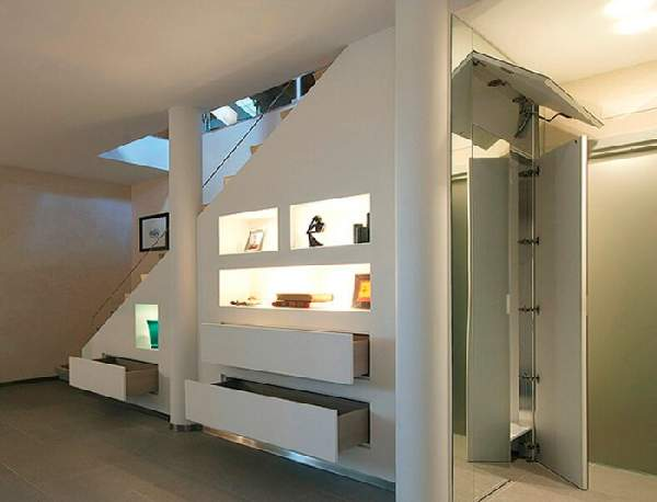 дизайн шкафа под лестницей, фото 31
