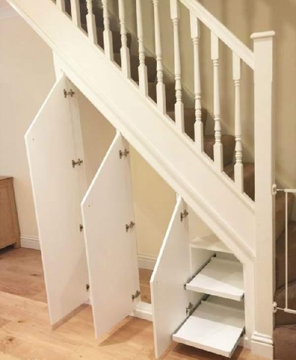 встроенный шкаф под лестницей, фото 41