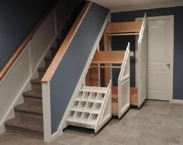 шкафы под лестницей фото, фото 42