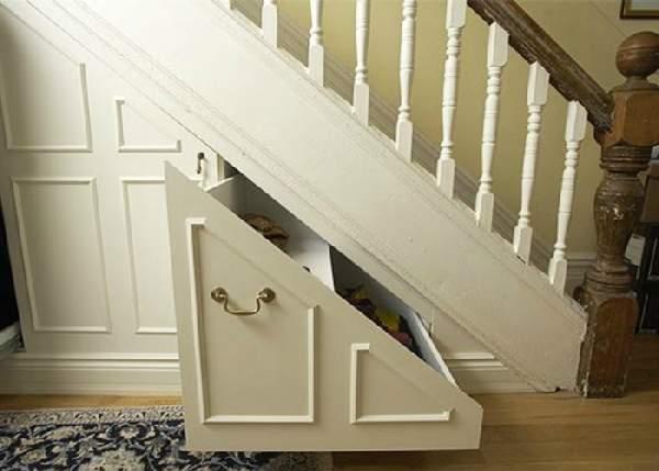 встроенные шкафы под лестницей фото, фото 43