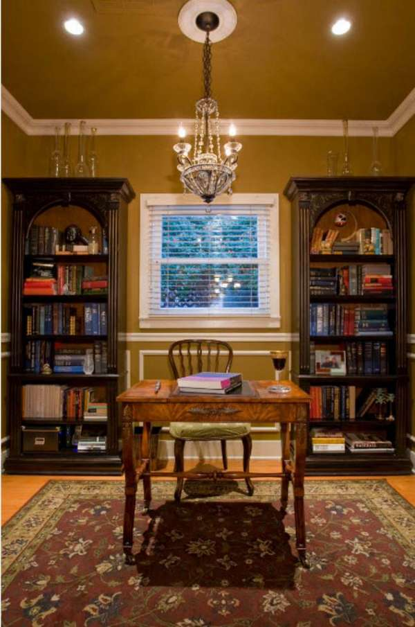 Книжный шкаф и библиотеки для дома — 50 фото в интерьере