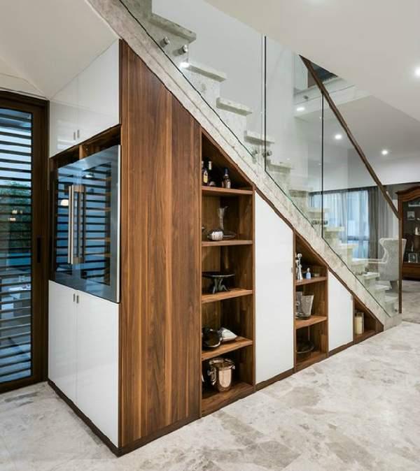 шкафы под лестницей фото, фото 44