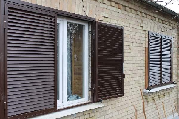 алюминиевые окна с внешними ставнями жалюзи, фото 17