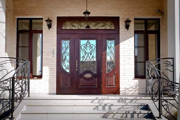 красивые деревянные входные двери, фото 35