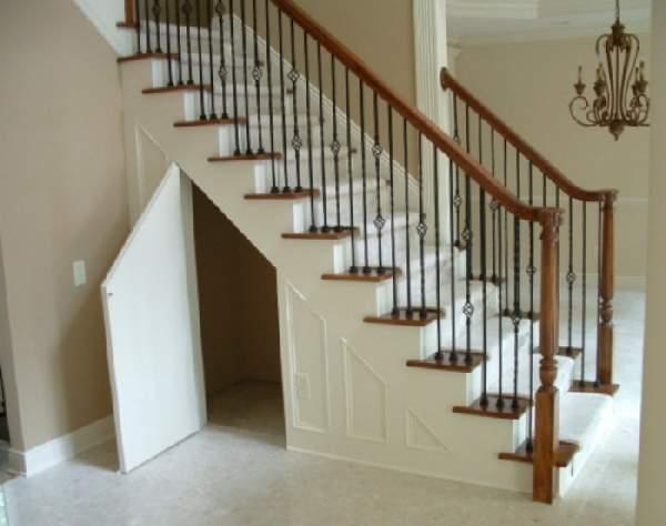 встроенные шкафы под лестницей фото, фото 45