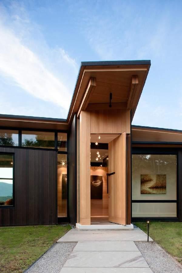 входные деревянные двери, фото 36