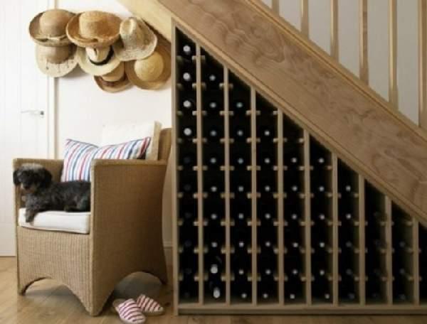 встроенный шкаф под лестницей, фото 46