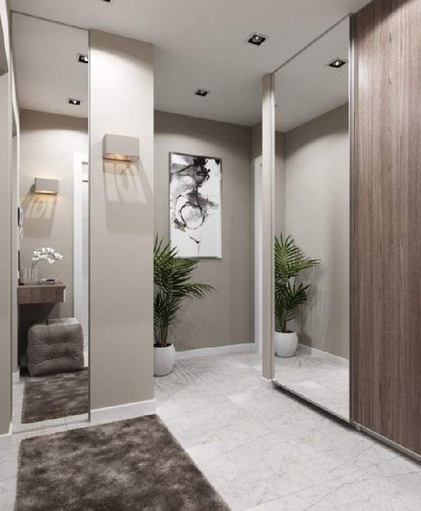 шкафы в маленькую прихожую в коридор, фото 29