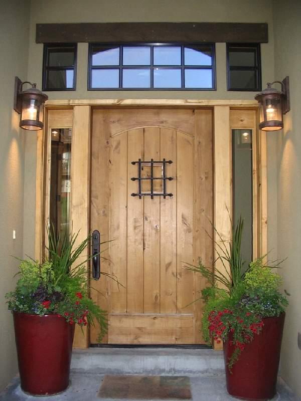 красивые деревянные входные двери, фото 38