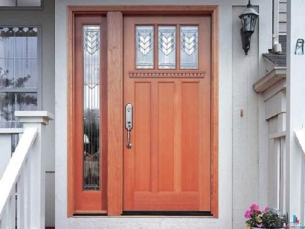 деревянные входные двери для частного дома, фото 8
