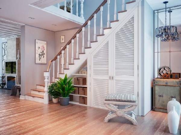 дизайн шкафа под лестницей, фото 32