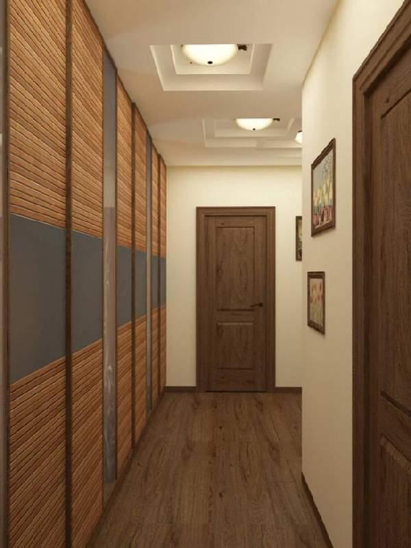 прихожая в узкий коридор со шкафом, фото 18