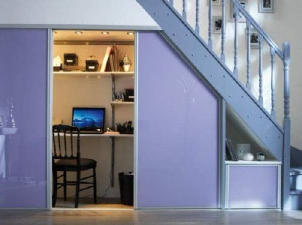 шкаф под лестницей фото идеи, фото 3