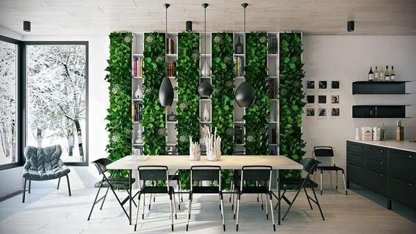 растения в интерьере кухни, фото 29