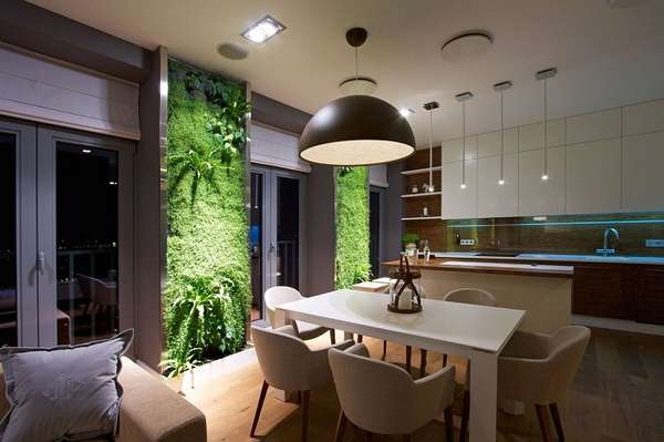 растения в интерьере кухни, фото 30