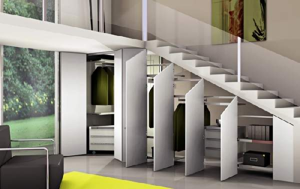 как сделать шкаф под лестницей своими руками, фото 36