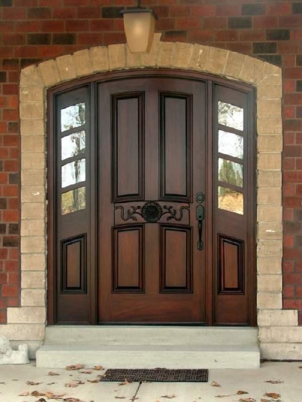 деревянные входные двери из массива, фото 2